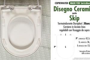 SCHEDA TECNICA MISURE copriwater DISEGNO CERAMICA SKIP