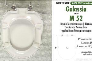 SCHEDA TECNICA MISURE copriwater GALASSIA-GALVIT M 52