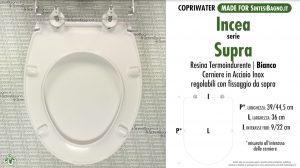 SCHEDA TECNICA MISURE copriwater INCEA SUPRA