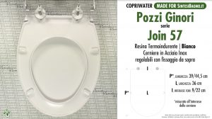 SCHEDA TECNICA MISURE copriwater POZZI GINORI JOIN TIPO 57