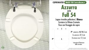 SCHEDA TECNICA / DATASHHET copriwater AZZURRA modello FULL 54