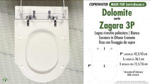 SCHEDA TECNICA MISURE copriwater DOLOMITE ZAGARA 3P