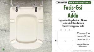 SCHEDA TECNICA MISURE copriwater FACIS/GSI ADDA