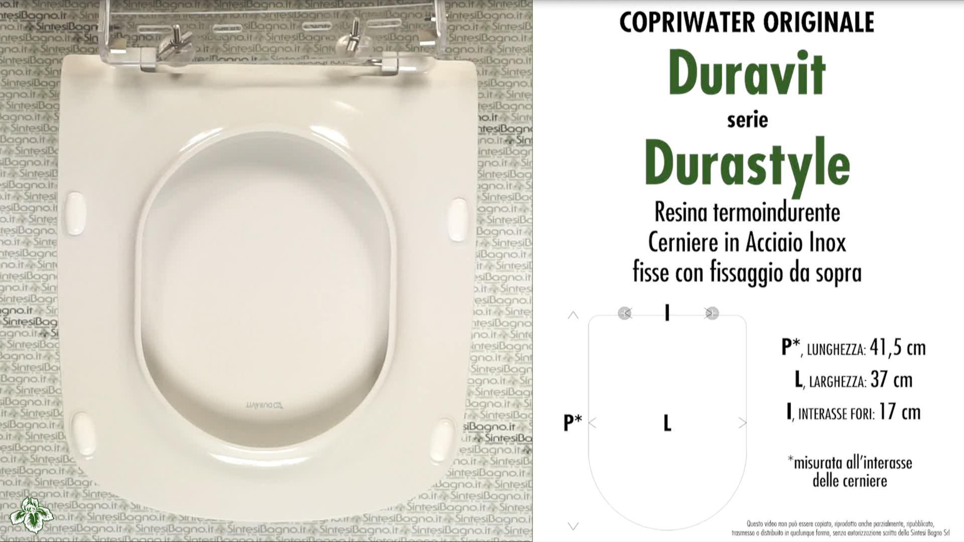 Schede tecniche Duravit Durastyle