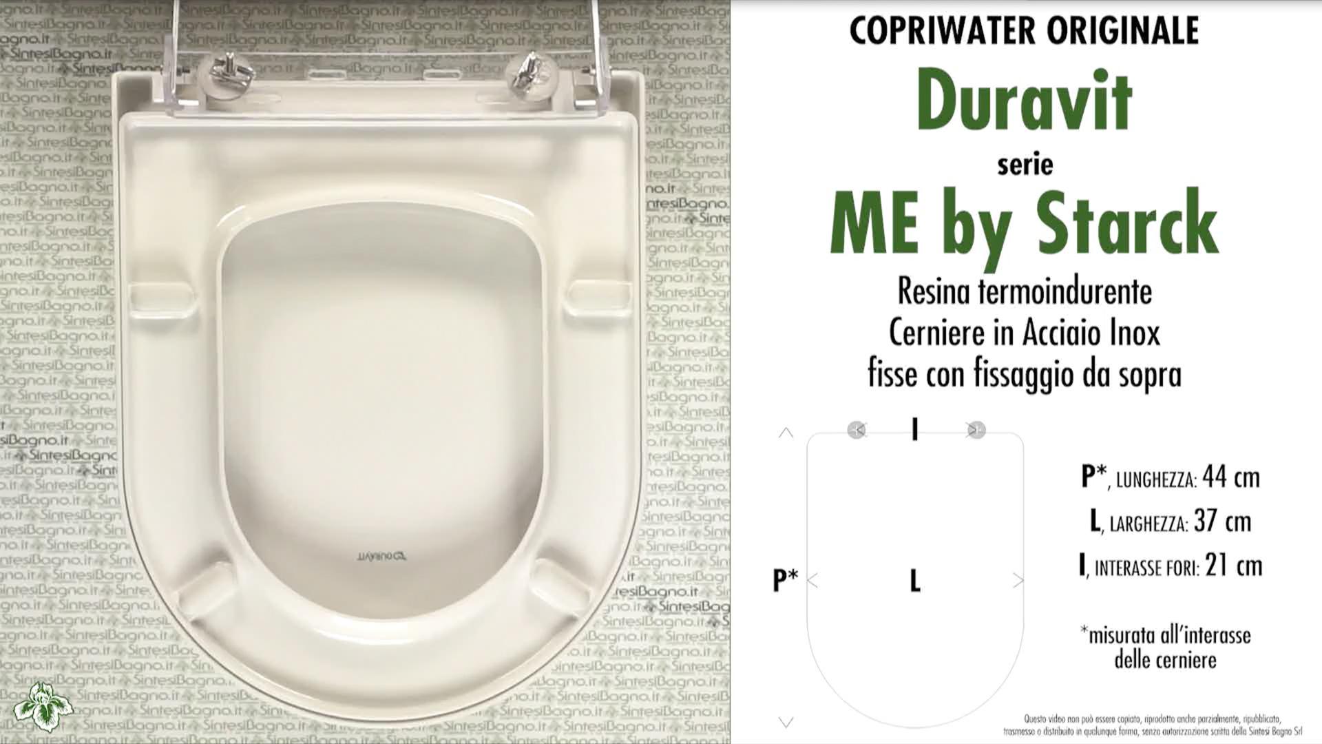 Schede tecniche Duravit ME by Starck